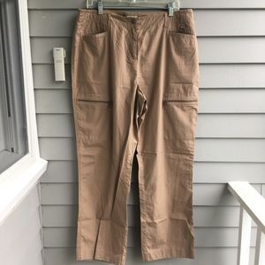 J.JILL Cotton Polin Eyelet Trim Cargo Pants 14